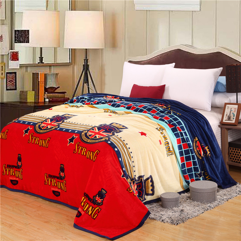 Cozzy British Style Strong BC UK Flag Soft Plush Velvet Fleece Blanket for Teenage Adult on Bed <font><b>Sofa</b></font> Single Twin Full Queen Size