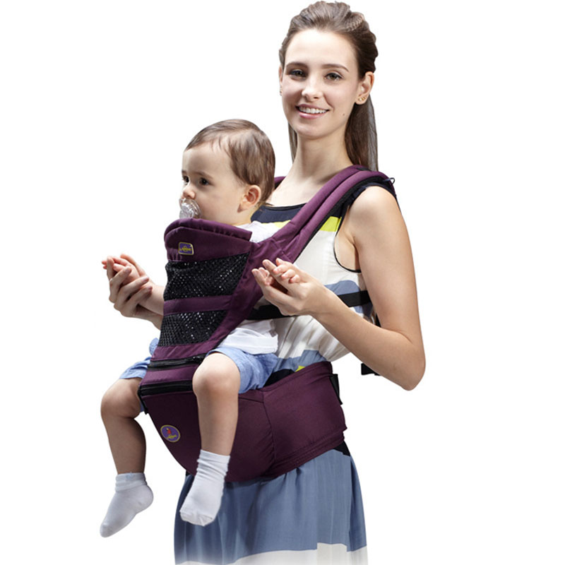 Aiebao 0 - 36 months breathable baby hip seat baby carrier baby sling Backpack Pouch Wrap Baby Kangaroo New 2017