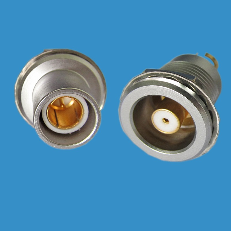 LEMO compatible 2S triaxial Broadcast male female connector, FFA.2S.675,ERA.2S.675