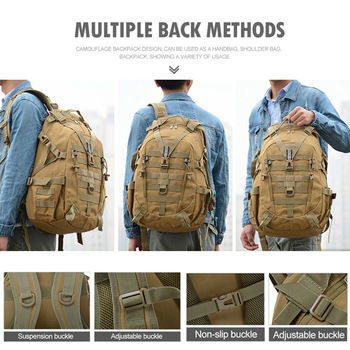 40L Camping Backpack Military Bag Men Travel Bags Tactical Army Molle Climbing Rucksack Hiking Outdoor