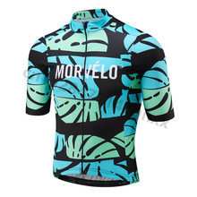 цена на Morvelo Quick Dry Cycling Jersey Men Summer Short Sleeve MTB Bike Cycling Clothing Ropa Maillot Ciclismo Racing Bicycle Clothes