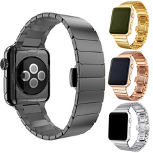 Hight Quality Luxury Watchbands For Apple Watch Band 42mm Stainless Steel Link Bracelet 38mm Metal Straps Accessories luxury 316l watchband straps band metal 42mm link for apple watch stainless steel bracelet 38mm butterfly loop black gold silver