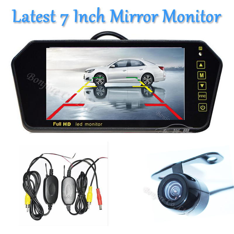 2017 Car Parking camera with 7 Colorful 800*480 TFT LCD Screen Video Input Car Mirror Monitor Reverse Rear view Camera System