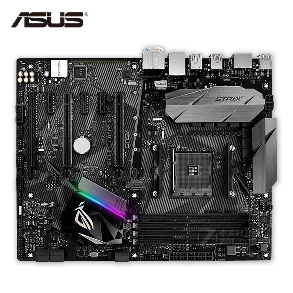 цена на Asus ROG STRIX B350-F GAMING Original New Desktop Motherboard B350 Socket AM4 AMD Ryzen DDR4 64G SATA3 USB3.1 Micro-ATX