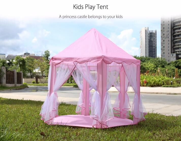 3 Colors Portable Play Tents Princess Castle Tent Children Playhouse kids Tent Funny Indoor Outdoor Beach Tent Baby playing Toy