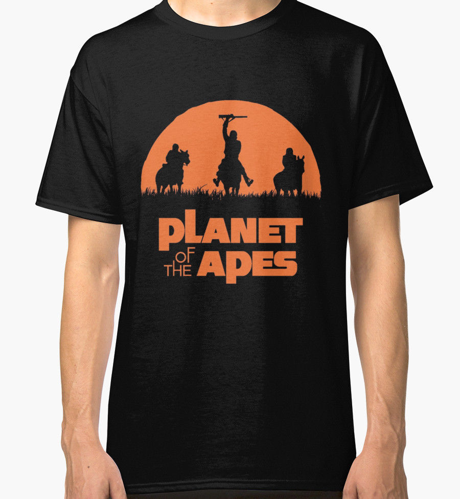 Shirt Shop Gift O-Neck Short-Sleeve Casual Planet Of The Apes Design Shirts For Men