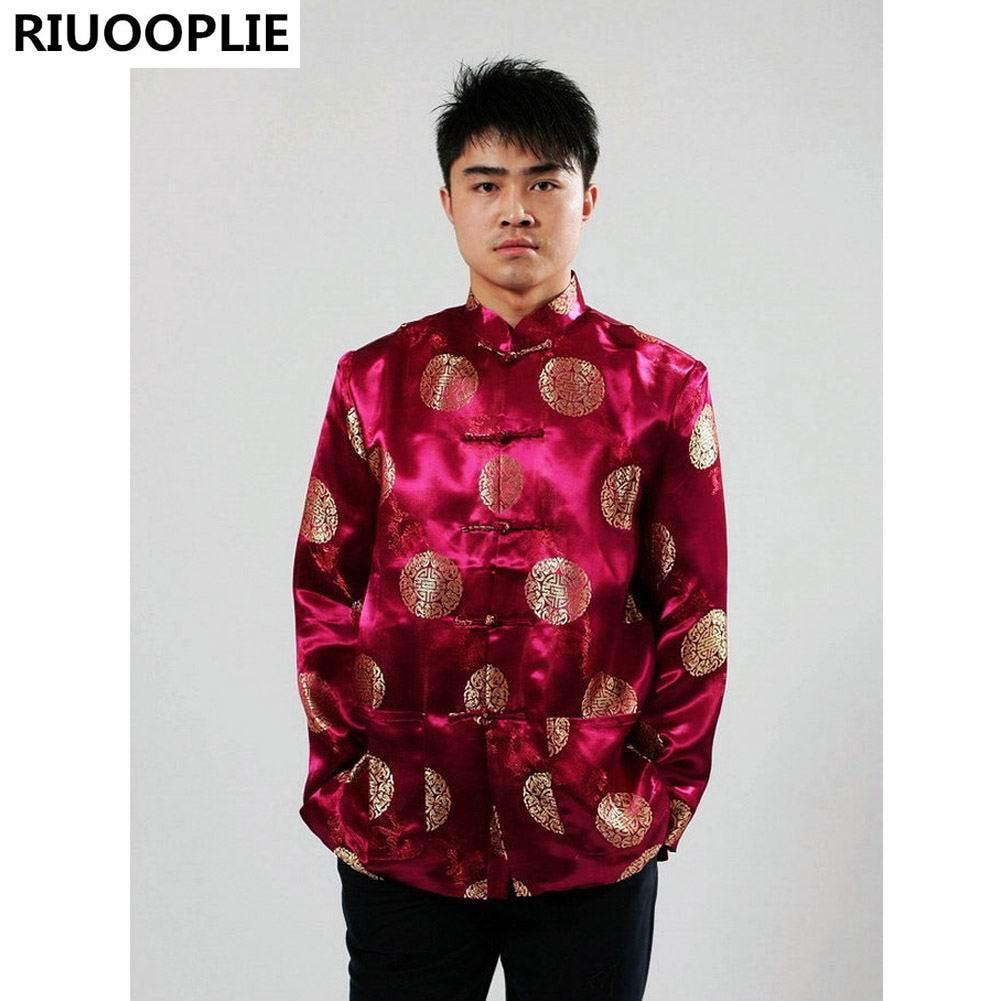 RIUOOPLIE Vêtements Chinois pour hommes Costume Top Tang Costume - Vêtements nationaux - Photo 3