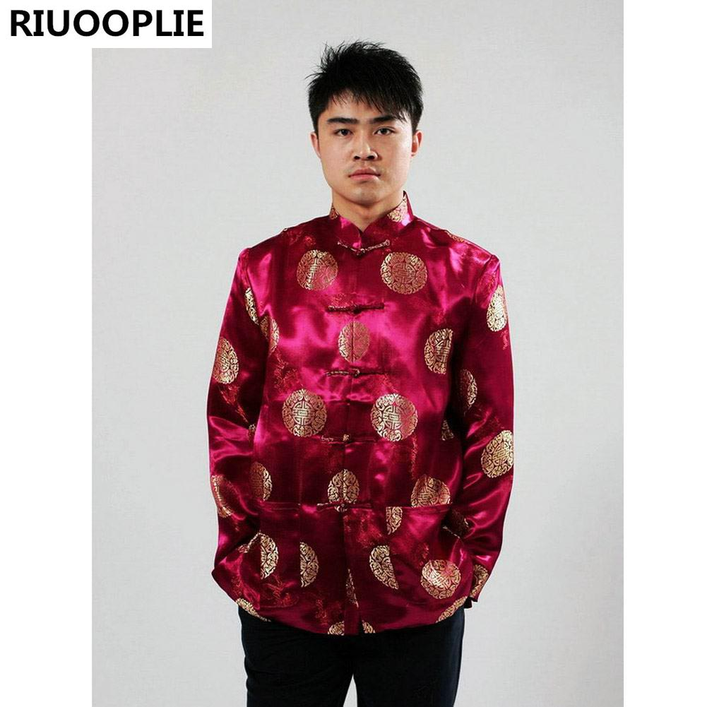 RIUOOPLIE Pakaian Cina untuk Lelaki Top Tang Suit Tahun Baru Hadiah - Pakaian kebangsaan - Foto 3