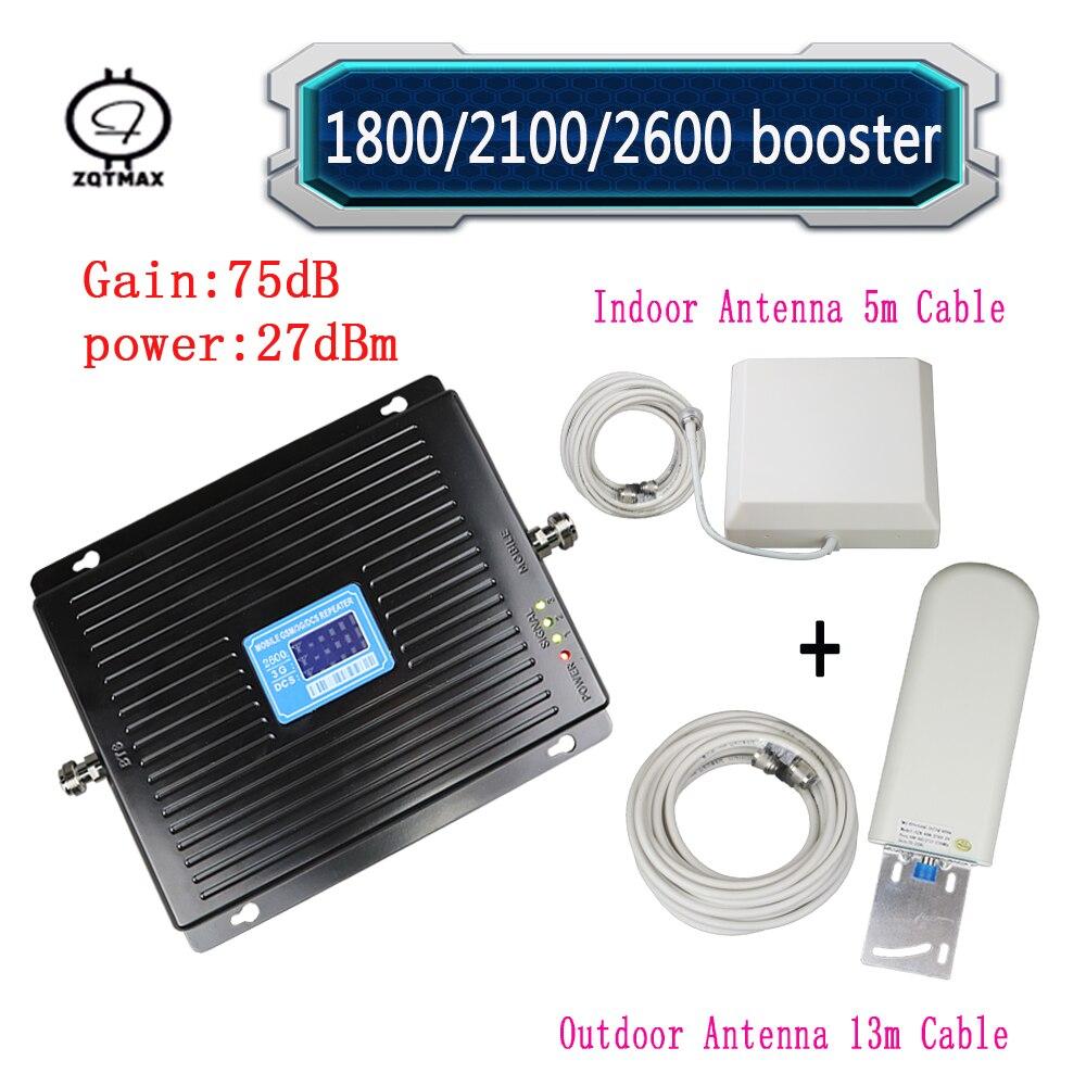 ZQTMAX 2G 3G 4G signal booster set 1800 2100 2600 répéteur 3G téléphone portable signal booster 4g lte réseau répéteur de signal cellulaire