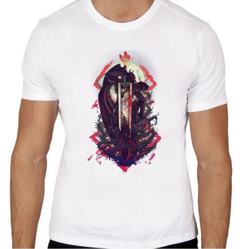 Berserk Print Casual Tshirt Mens O Neck T Shirts Fashion