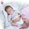 UCanaan22 polegadas 50-55 cm 100% Seguro de Vinil Silicone Bebê Reborn Fechado os Olhos A melhor Presente de Natal/presente Para As Crianças