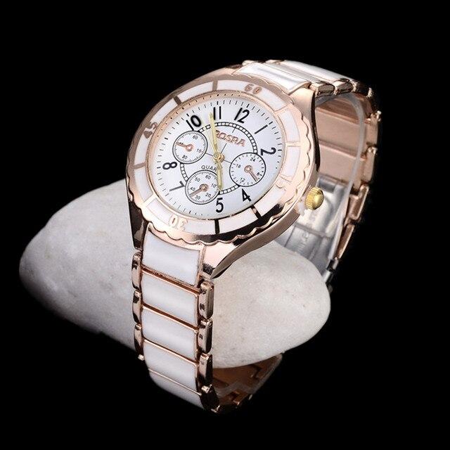 Reloj de oro rosa para mujer, relojes de lujo para mujer, pulsera de moda, reloj de acero inoxidable para mujer