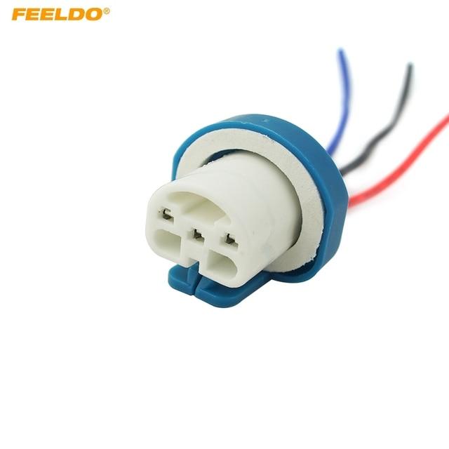 feeldo 1pc 9007 ceramic socket xenon lamp wiring harness for rh aliexpress com Small Light Bulb Sockets Light Bulb Socket Types