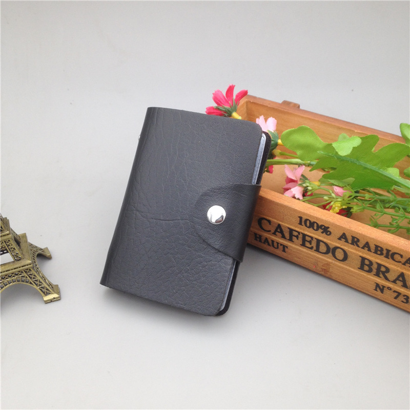 BISI GORO 2019 New Credit Card Holder 12 Bits Function Card Wallet Casual High Quality Card Case For Men And Women Hasp Package