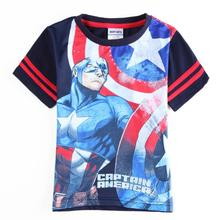 america hero Clothing for boys clothes t shirt roupas infantil meninos fashion kids wear enfant