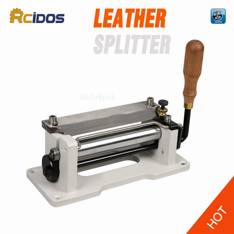 "ER800P Manual leather skiver 6"" inch ,RCIDOS handle leather peel tools,DIY shovel skin Machine,leather splitter"