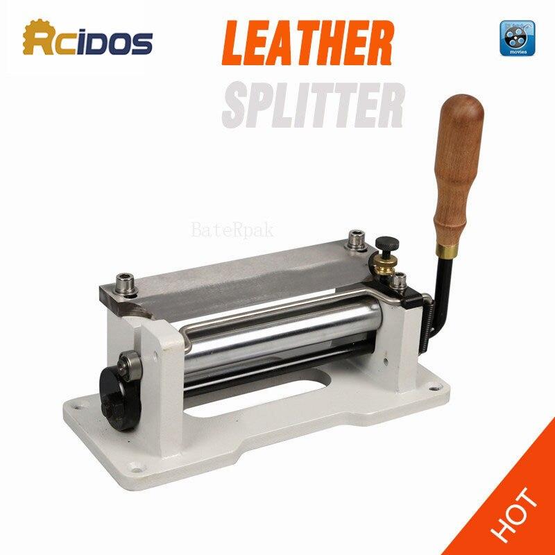 ER800P Manual skiver couro 6 polegadas, RCIDOS lidar com ferramentas de casca de couro, DIY Máquina pá pele, couro splitter