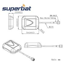 Superbat 1575.42MHz Car RV GPS Active Antenna Aerial Signal Booster SMA Plug for GPS Receivers/Systems Mobile RG174 10m Cable