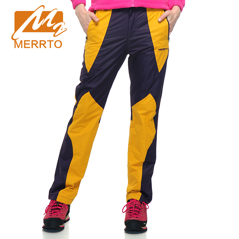 MERRTO Winter Women Waterproof  Windproof Outdoor Pants Snow Pants Warm Fleece Trousers Bran Breathable Woman Pants #19136 rax 2015 thermal fleece hiking pants for men women winter outdoor sports warm fleece trousers fleece camping pants 54 4f089