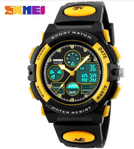 Relógios de Pulso m à Prova Skmei Marca Moda Esporte Relógios Crianças Digitais Display Led Casual 50 Dwaterproof Água