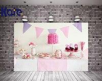 Kate Happy Birthday Pink Theme White Background For Newborn Baby Children Delicious Desserts Cakes Dessert Station For Children