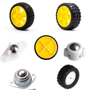 Kuongshun Robot Smart Car Wheel For Arduino Smart Car Diy Kits TT motor / DC motor Wheel недорого