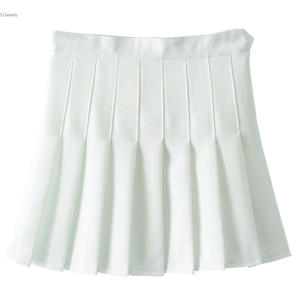 Sexy White Skirt Women High Waist A Line Saia Branca Pleated Skirt ...
