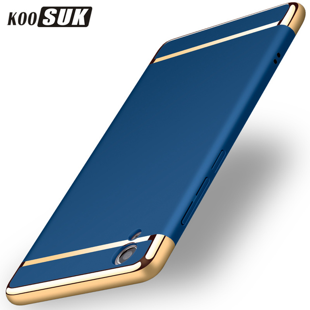 Vivo Y67 Case KOOSUK Luxury 3in1 phone back cover case For VIVO Y67 V5 Y51 Y55 Y53 phone case Plating edge quality PC back cover