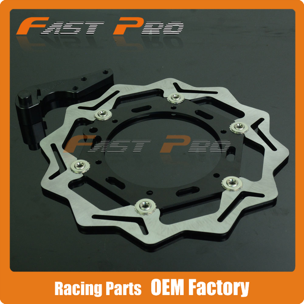 Oversize 270MM Front Floating Brake Disc Rotor & Caliper Bracket Adapter for Husqvarna TE TC FE FC 125 250 300 350 450 501 14-15 стоимость