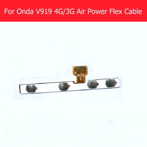 Original switch on off Power & Volume button Flex cable For Onda V919 4G /3G air 9.7 side Keypad button flex cable with sticker replacement power on off flex cable for ipad air black