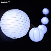 Tanbaby Outdoor 5M 20 Leds 6M 30leds Fairy Lantern Solar String Lights Led Bulb For Holiday