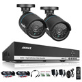 ANNKE 4CH 720P HDMI CCTV Recording DVR 2PCS 1.0MP Outdoor IR Security Camera System 4 Channel Video Surveillance Kit