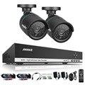 Annke 4ch 720 p hdmi cctv dvr gravação 2 pcs 1.0mp ir ao ar livre sistema de câmera de segurança de vigilância de vídeo de 4 canais kit