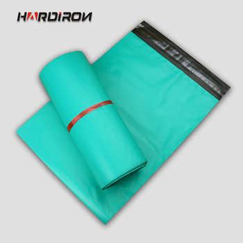 Hardiron verde poli mailer mailing saco organizador bolsas de armazenamento de plástico de plastico embalagem saco envelope expresso
