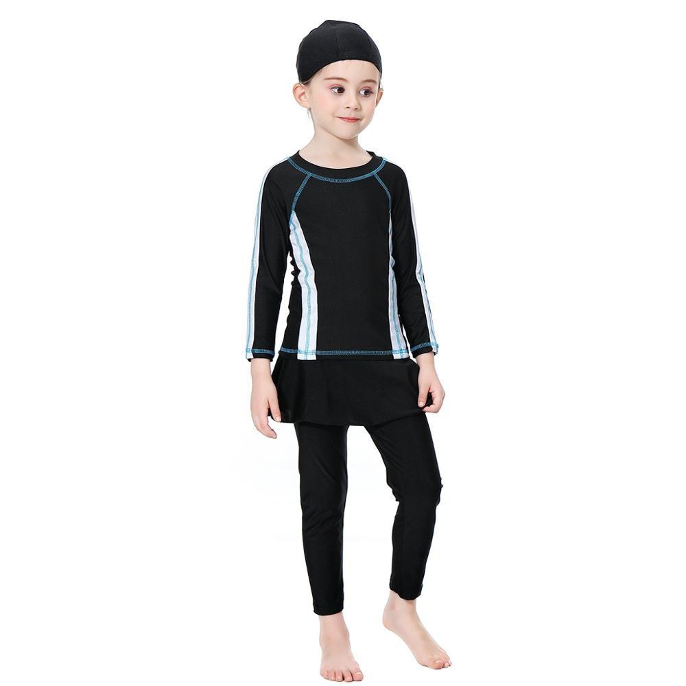 Muslim Women Girl Islamic Swimwear Modest Full Cover Swimming Rash Guard Costume