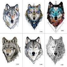 WYUEN Wolf Temporary Tattoo Stickers Waterproof Women Fake Hand Animal Tattoos Adult Men Body Art 9.8X6cm A-085