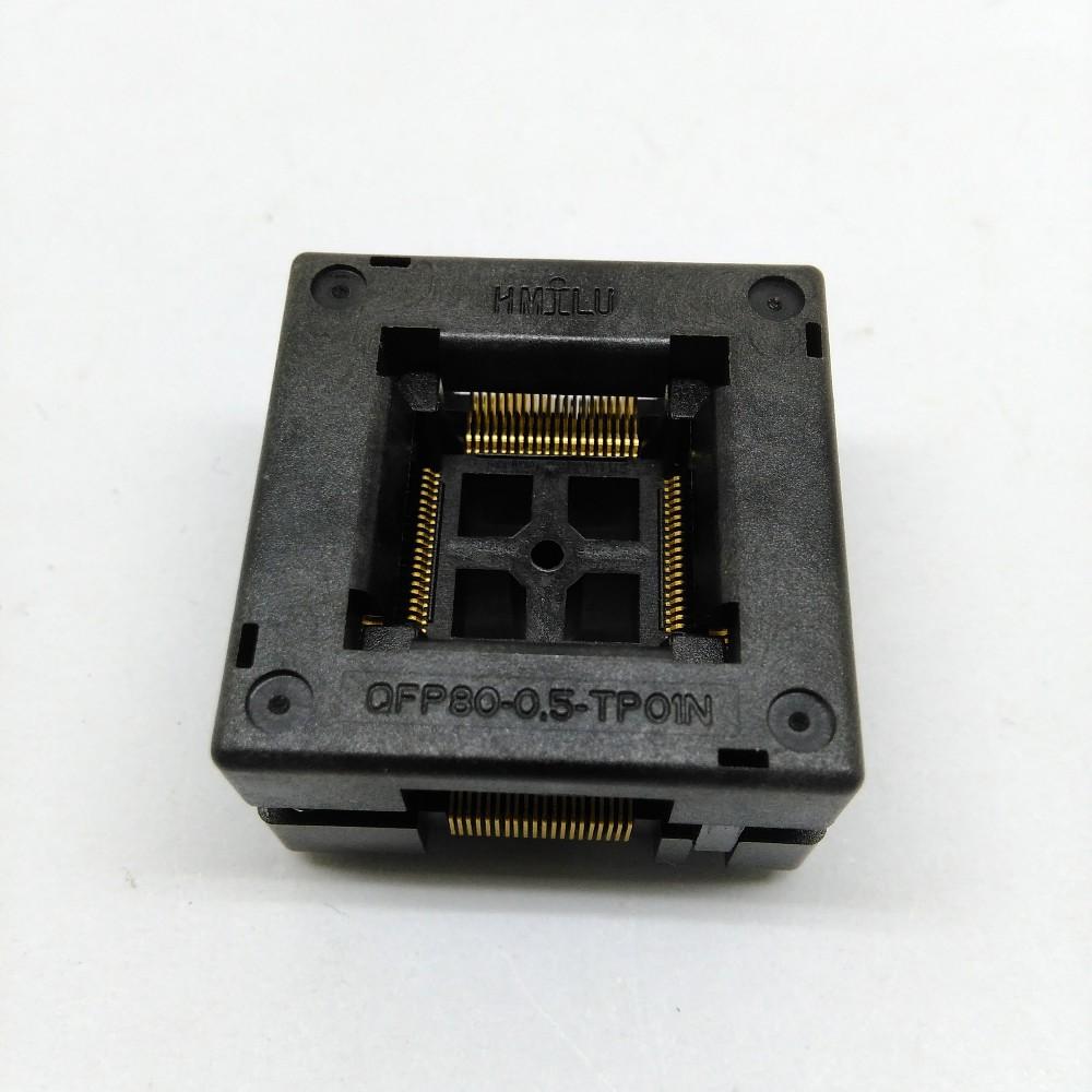 TQFP80 FQFP80 QFP80 Burn in Socket OTQ-80-0.5-02B Pitch 0.5mm IC Body Size 12x12mm Test Adapter