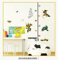 10pcs/ Pack Transformers Growth Chart Height Chart Girls Room Wall Sticker Measure Vinyl Decal Nursery Decor DIY
