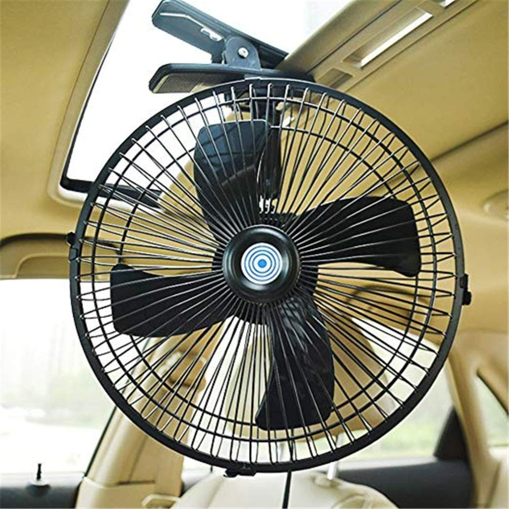 10inch 12/24V Car Van Home 2 Speed Airflow Fan Summer Electric Cooling With Clip Universal