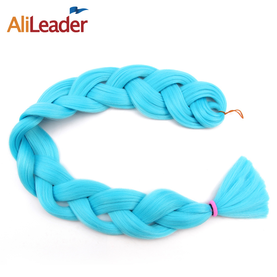 AliLeader Heat Resistant Synthetic Hair Weave Xpression Crochet Braids, Red Blue Green Braiding Hair 36 Inch 8Pcs/Lot Hair Weave