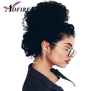Medium Brown Lace Wig Brazilian Remy Kinky Curly Hair 360 Lace Frontal Human Hair Wigs For Women Bleached Knots With Baby Hair