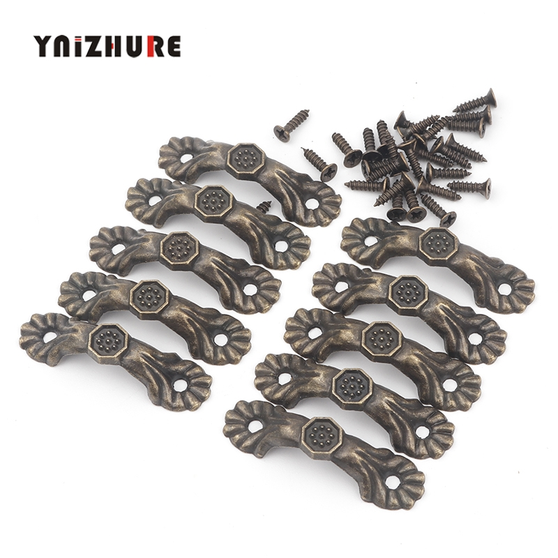 10pcs Box Knobs Zinc Alloy Handle Arch Tracery Bronze Tone For Drawer Wooden Jewelry Box Mini Handles For Hardware