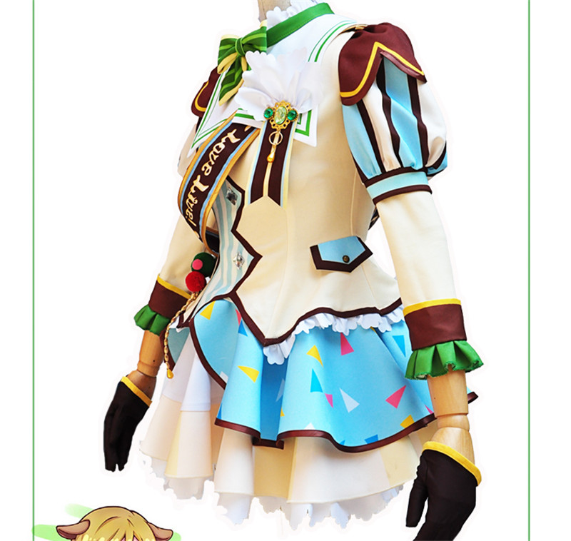 Japanese Anime Lovelike Koizumi Hanayo Cosplay Costume Ice Cream Awakening Dress Hot Sale Beautiful Girl Clothing
