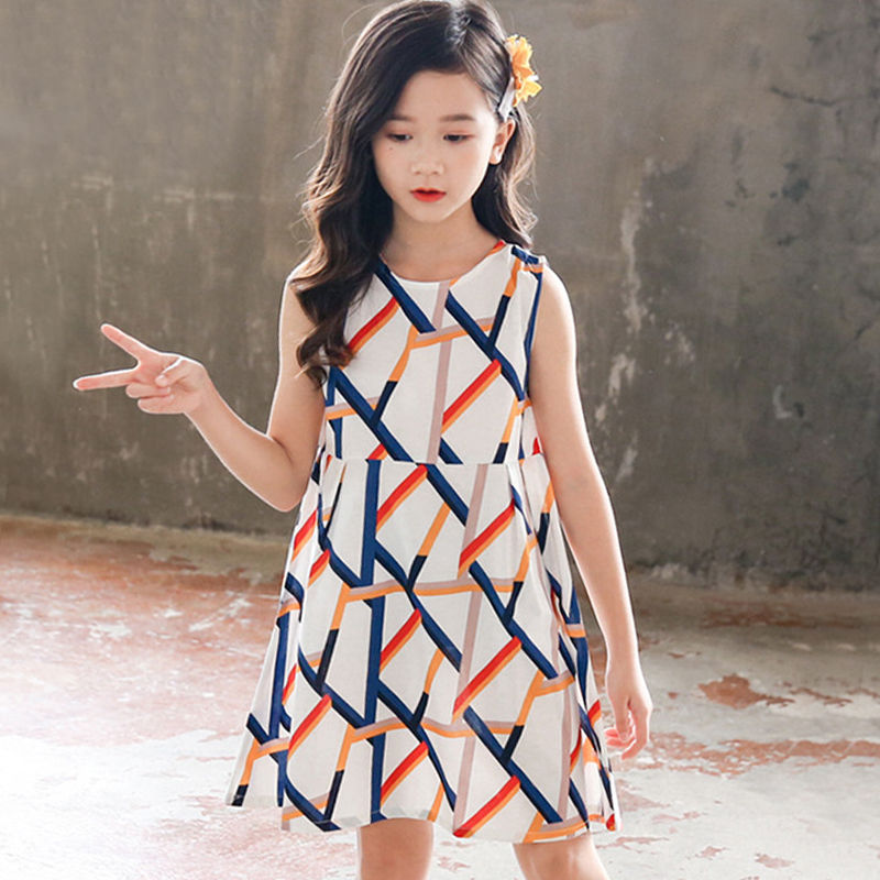 kids summer dress girls princess party dress 2019 little girls dresses cotton baby girl clothes big girls clothing for children 1