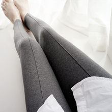 Elastic 100% legging cotton long johns thin ankle length trousers plus size basic