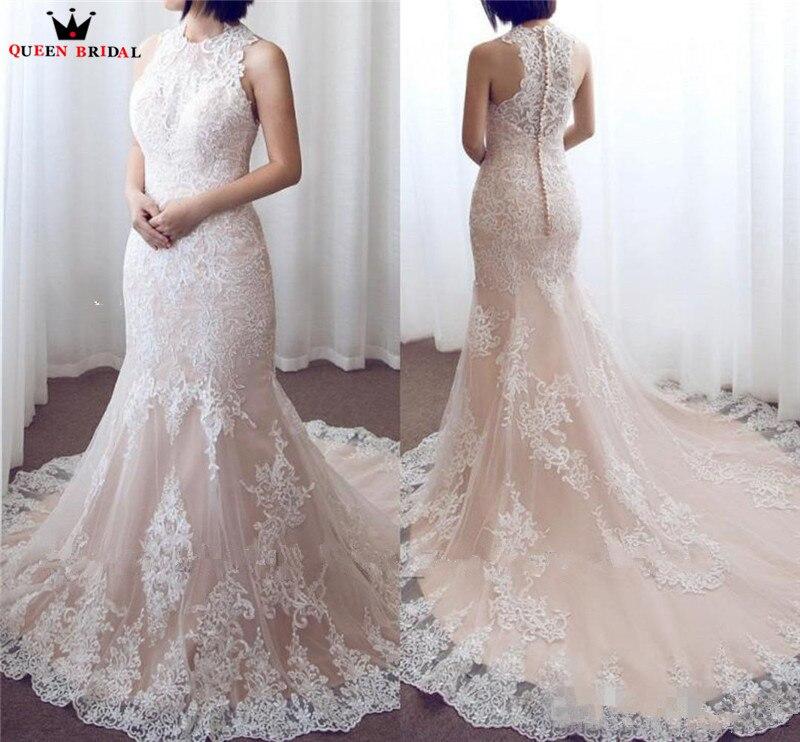 Robe De mariée Sexy élégante sirène licou Tulle dentelle perles robes De mariée robes De mariée robes De mariée DA01