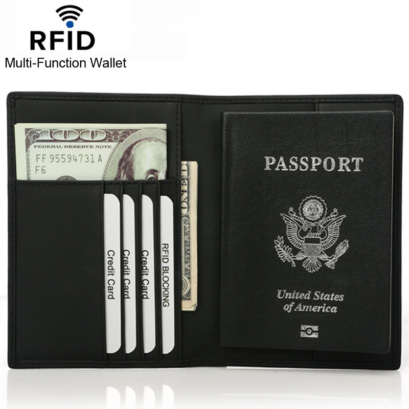 REID Cow Genuine Leather Super Thin Men Wallet Card Holder Passport Cover Purses Money Clip Card Case Man High Quality
