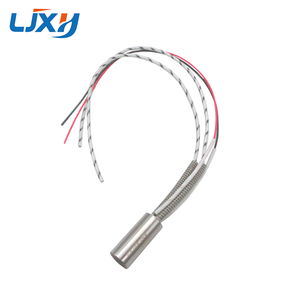 LJXH Cartridge Heater Element 220V Single Head Heating Pipe Dia.12mm with Type K Thermocouple 304 Stainless Steel 200W/300W/400W tyre repair tire heating board 180 300 10mm 220v 200w k type thermocouple silicone heating plate silicone heater electric heated