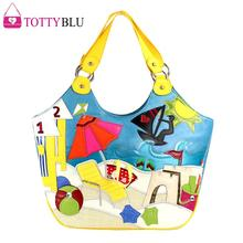 34x28CM 2016  Summer New Handbag Candy Panelled Colors Cute Retro Shoulder Bag Big Trend Post A2615~3