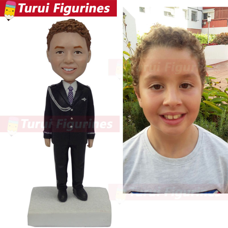 little girl figurines custom personalized bobblehead for girl bobble head dolls gift for woman photo to figurines miniatures in Statues Sculptures from Home Garden